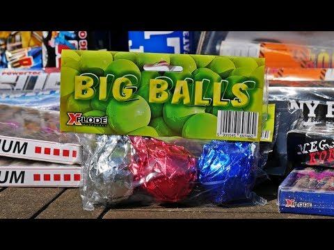 EXTREM HEFTIG! Xplode Big Balls XXL Crackling Bälle | PyroExtremGermany