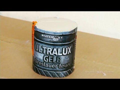 "Blackboxx Ultralux ""Breslauer Feuer"" Gelb Kat: T 1 - Pyrocheck Silvester Feuerwerk Full HD -"